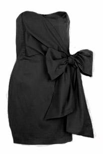 Yandan Kurdeleli Siyah Elbise