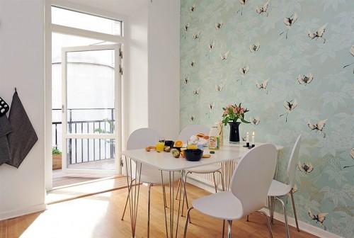 Mutfakta kullanılan duvar kağıdı