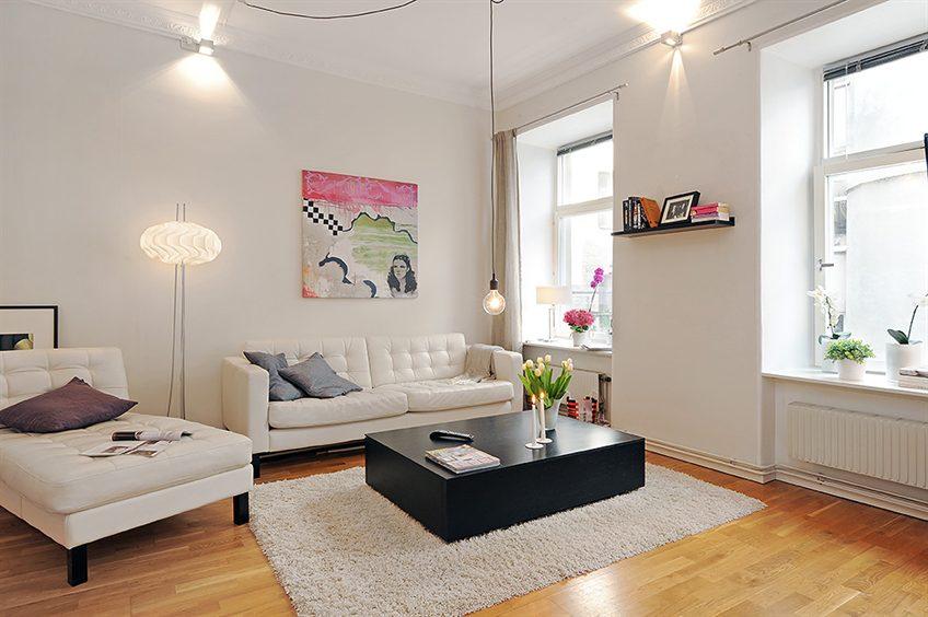 Geni bir 1 1 stil defteri for 30 m2 salon dekorasyonu